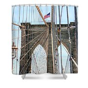 Brooklyn Bridge Cables Shower Curtain