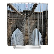 Brooklyn Bridge Cables Nyc Shower Curtain