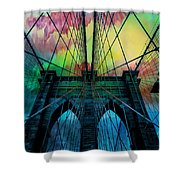 Psychedelic Skies Shower Curtain