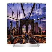 Brooklyn Bridge Evening Shower Curtain