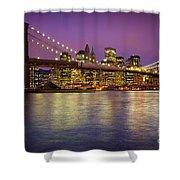 Brooklyn Bridge Shower Curtain by Inge Johnsson