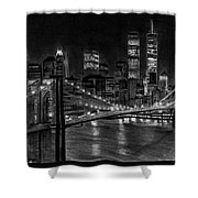 Brooklyn Bridge New York Shower Curtain