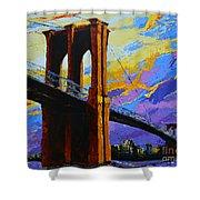 Brooklyn Bridge New York Landmark Shower Curtain