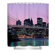 Brooklyn Bridge New York Ny Usa Shower Curtain