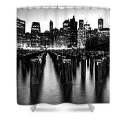 Brooklyn Bridge Park Shower Curtain