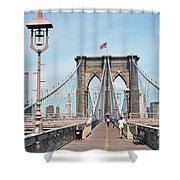 Brooklyn Bridge - New York Shower Curtain