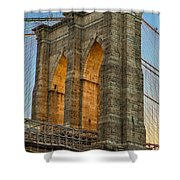 Brooklyn Bridge Tower Shower Curtain