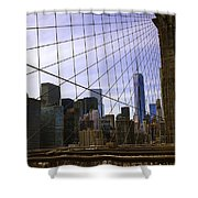 Brooklyn Bridge View Shower Curtain
