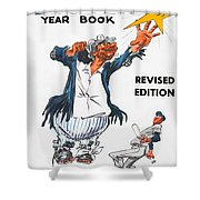 Brooklyn Dodgers 1955 Yearbook Shower Curtain