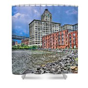 Brooklyn Old Tobacco Warehouse Shower Curtain