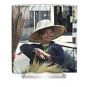 Broom Seller  Shower Curtain