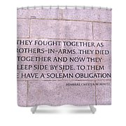 Brother's In Arms  Shower Curtain