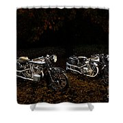 Brough Superior Ss100 And 680 Shower Curtain