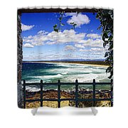 Broulee Beach Shower Curtain
