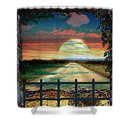 Broulee Senset Shower Curtain