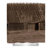 Brown Barns Shower Curtain