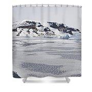 Brown Bluff, Antarctica Shower Curtain