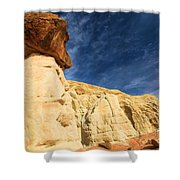 Brown Cap Shower Curtain by Adam Jewell