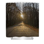 Brown County State Park Nashville Indiana Biblical Verse Shower Curtain