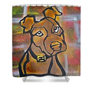 Brown Dog Shower Curtain