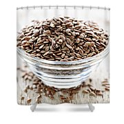 Brown Flax Seed Shower Curtain