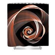 Brown Flirt Shower Curtain