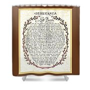 Brown Frame Color Wreath Desiderata Poem Shower Curtain