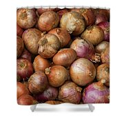 Brown Onions Shower Curtain