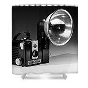 Brownie Hawkeye Black And White Shower Curtain