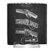Browning Rifle Patent Drawing From 1921 - Dark Shower Curtain