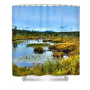 Browns Tract Inlet Waterway Shower Curtain