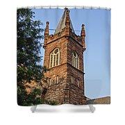 Brownstone Church Shower Curtain