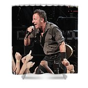 Musician Bruce Springsteen Shower Curtain