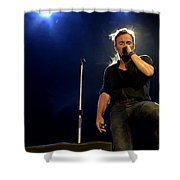 Bruce Springsteen Performing The River At Glastonbury In 2009 - 1 Shower Curtain