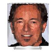 Bruce Springsteen Portrait Shower Curtain