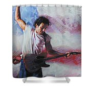 Bruce Springsteen The Boss Shower Curtain