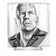 Bruce Willis Shower Curtain