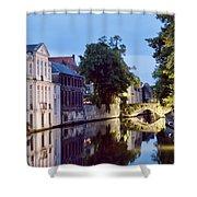 Brudges Canal Bridge Shower Curtain