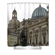 Bruehlsche Terrace - Church Of Our Lady - Dresden - Germany Shower Curtain