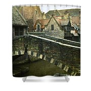 Bruges Canal Bridge Shower Curtain