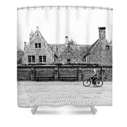 Bruges Cyclist Shower Curtain