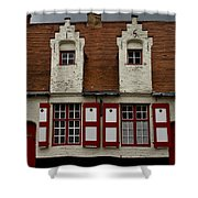 Bruges Houses Shower Curtain