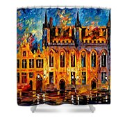 Bruges Shower Curtain by Leonid Afremov
