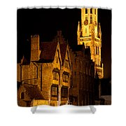 Brugge Architecture Shower Curtain