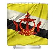 Brunei Flag Shower Curtain