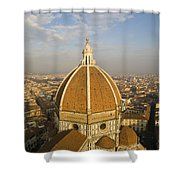 Brunelleschi's Dome At The Basilica Di Santa Maria Del Fiore Shower Curtain