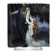 Brunhilde Knelt At His Feet, From The Shower Curtain