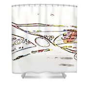 Brush And Paste Shower Curtain
