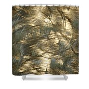 Brushed Metal  Shower Curtain