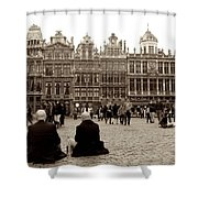 Brussel's Trance Shower Curtain by Donato Iannuzzi